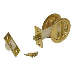 """Picture of 1534-3P1 Auto-Latching Pocket Door Lock Set, 1-3/4"""" Door"""