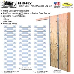 Picture of 1515-PLY Pocket Door Frame Plywood Clip Set